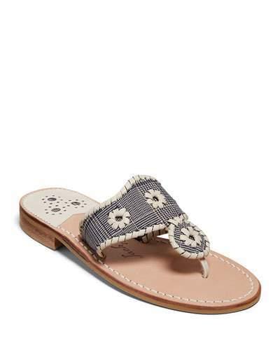 Jack Rogers Jacks Plaid Flat Slide Sandals