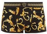 Versace - Baroque Print Jersey Boxer Briefs - Mens - Black Gold