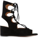 Chloé 'Foster' wedge sandals - women - Leather - 37.5