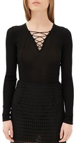Sandro Sacha Lace-Up Sweater