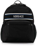 Versace logo patch backpack