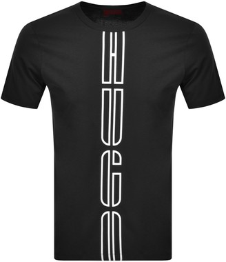 HUGO BOSS Darlon Crew Neck Short Sleeve T Shirt Black