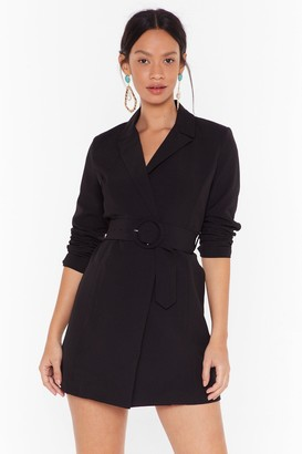 Nasty Gal Womens O-Ring It On Longline Blazer - black - S