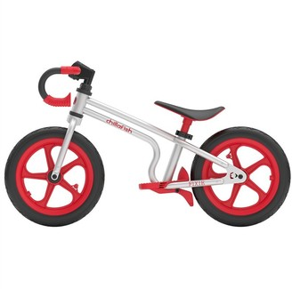 Chillafish FIXIE RED - Fixed-gear styled balance bike with integrated footrest & footbrake !