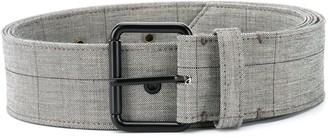 Monse Check Pattern Belt