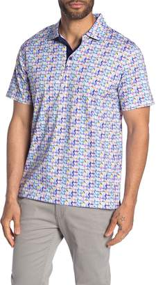 Bugatchi Printed Regular Fit Polo