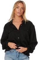 Rusty Perspective Womens Long Sleeve Shirt Black