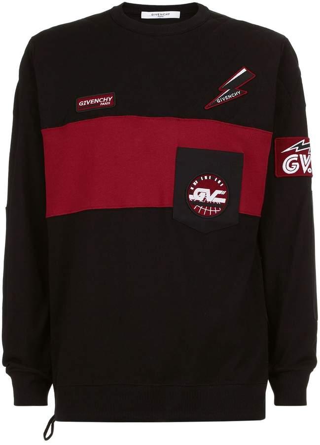 Givenchy Logo Patch Embellished Sweatshirt