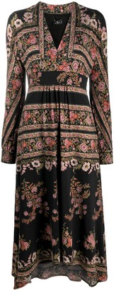 Etro Floral-Print Long Sleeved Dress