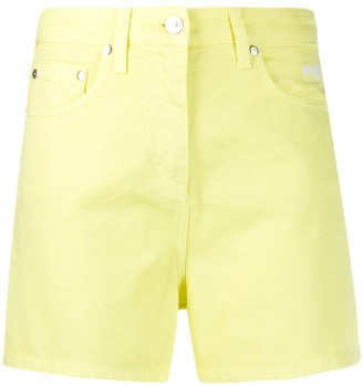 MSGM High-Waist Denim Shorts