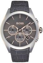 BOSS 'Onyx' Chronograph Crocodile Leather Strap Watch, 44mm