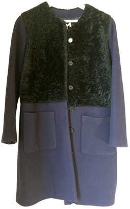 Paul & Joe Blue Fur Coat for Women