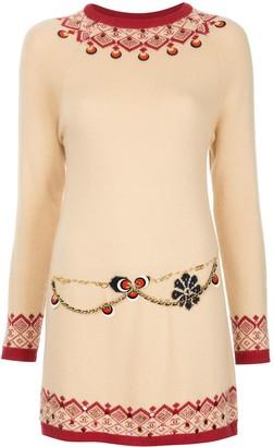 Scandinavian Chanel Pre-Owned pattern short dress