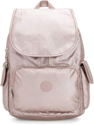 Kipling City Pack Medium Metallic Backpack