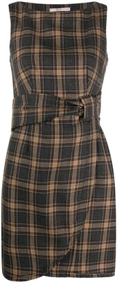 Valentino Pre Owned 2000s Fitted Waist Checked Dress