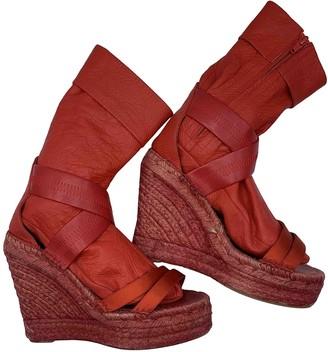 A.F.Vandevorst Red Leather Sandals
