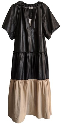 Stand Studio Black Leather Dress for Women