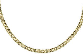 Argento Vivo 18K Over Silver G Flat Link Choker Necklace