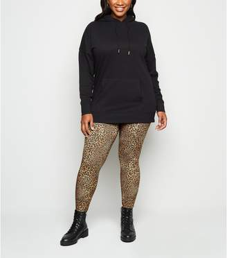 New Look Curves Light Leopard Print Leggings