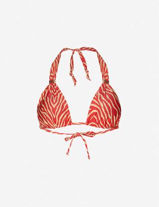 Vix Fiorella Bia zebra-print bikini top
