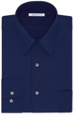 Van Heusen Men's Classic/Regular Fit Wrinkle Free Poplin Solid Dress Shirt