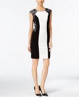 Calvin Klein Lace-Paneled Sheath Dress