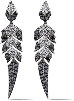 Stephen Webster 18kt white gold Magnipheasant diamond pave short earrings