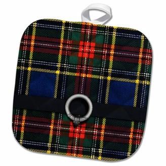 Macbeth 3drose 3dRose Scottish Tartan Pattern with black belt and buckle design - Pot Holder, 8 by 8-inch