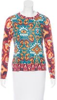 Tory Burch Long Sleeve Printed Top