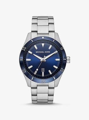 Michael Kors Oversized Layton Silver-Tone Watch