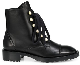 Stuart Weitzman Reysen Leather Combat Boots