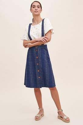 Sessun Striped-Pinafore Dress