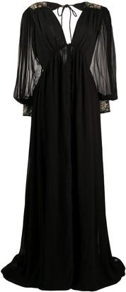 retrofete long-sleeve maxi dress