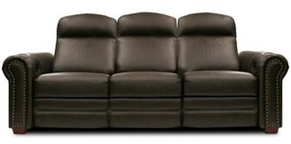 Bass Signature Series Leather Home Theater Sofa Type: Not Motorized, Frame Finish: Beech, Cupholders: Black cup holders