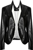 Juji glazed-leather jacket