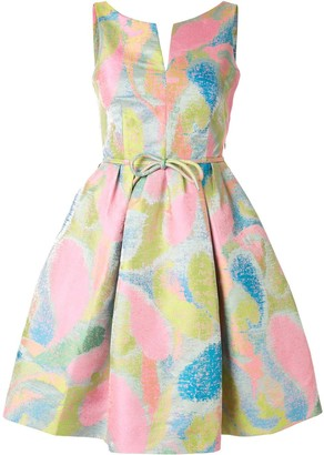 Paule Ka Jacquard Flared Dress