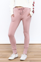 Polly & Esther Front Lace-Up Joggers