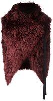Ann Demeulemeester wide scarf - women - Cotton/Rayon/Lama Fur - 36