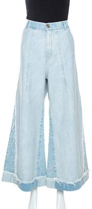 Chloé Light Blue Distressed Denim Flared Jeans M