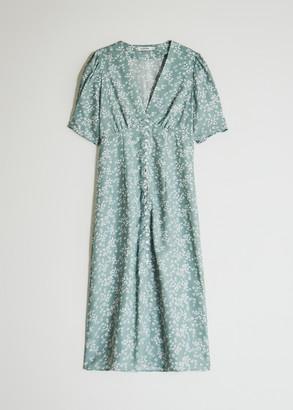 Farrow Women's Yvette Short Sleeve Dress In Sage, Size Small