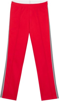 Burberry Stripe Detail Double-Waist Jersey Trackpants