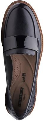 Clarks Raisie Arlie Wide Fit Loafers - Black