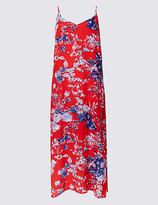 M&S Collection Floral Print Slip Midi Dress