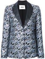 MSGM metallic floral jacquard dinner jacket - women - Polyester - 40