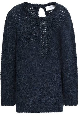 IRO Lace-up Boucle-knit Sweater
