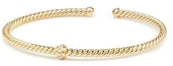 David Yurman Renaissance Center Station Bracelet with Diamonds in 18K Gold