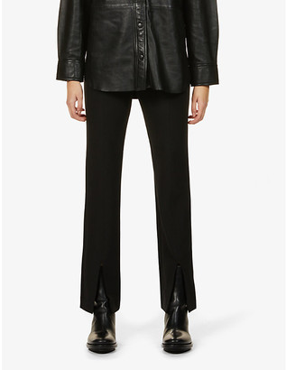 Samsoe & Samsoe Marion split-cuff straight-leg mid-rise woven trousers