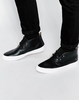 Fred Perry Vernon Leather Chukka Trainers - Black