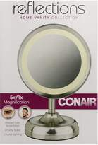 Conair Double-Sided Lighted Mirror, Satin Nickel Finish