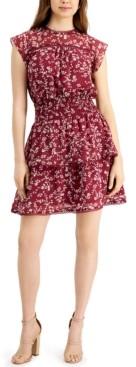 Q & A Floral-Print Mini Dress